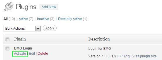 BMO Login WordPress Plugin - Business Management Online